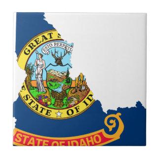 Azulejo Mapa de la bandera de Idaho