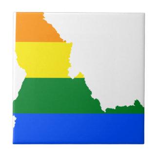 Azulejo Mapa de la bandera de Idaho LGBT