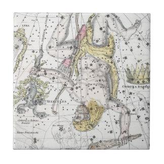 Azulejo Mapa de la placa VIII de las constelaciones