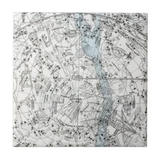 Azulejo Mapa de la placa XXVIII del hemisferio meridional