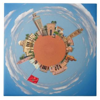 Azulejo Marrakesh poco lan del turismo del viaje de