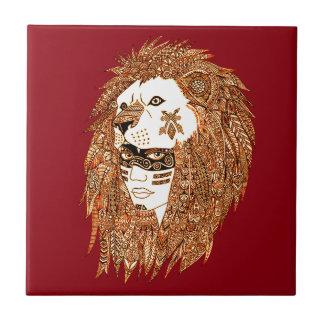 Azulejo Máscara del león
