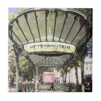 Azulejo Metro de las abadesas, Montmartre, París