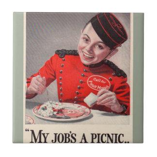 Azulejo Mi trabajo es una comida campestre - pequeño