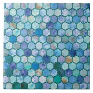 Azulejo Modelo azul del panal de la aguamarina de lujo