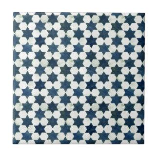 Azulejo Modelo de estrella marroquí azul