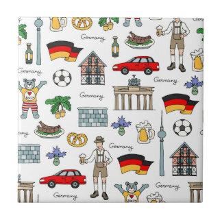 Azulejo Modelo de los símbolos de Alemania el |
