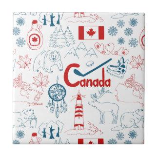 Azulejo Modelo de los símbolos de Canadá el |
