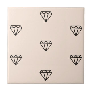 Azulejo Modelo elegante lindo del rosa del diamante