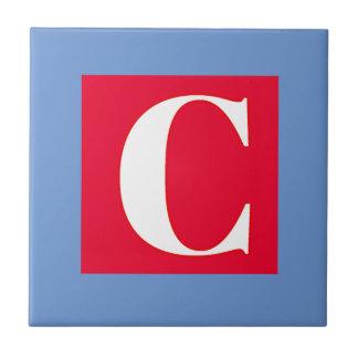 Azulejo Monograma brillante y elegante del alfabeto