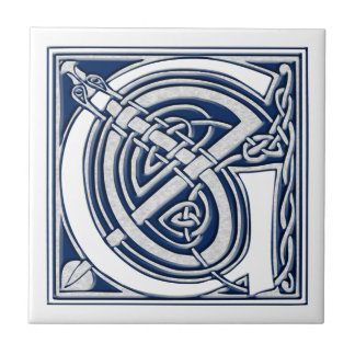 Azulejo Monograma céltico de G