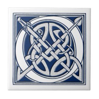 Azulejo Monograma céltico de O