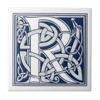 Azulejo Monograma céltico de R