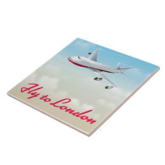 Azulejo Mosca al poster del avión de Londres