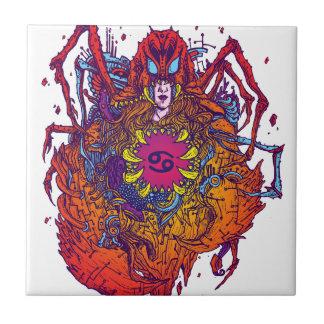 Azulejo Muestra del zodiaco del cáncer