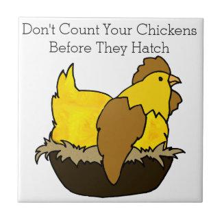 Azulejo No cuente sus pollos antes de que tramen