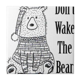 Azulejo No despierte el oso