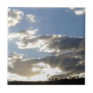 Azulejo Nubes y Sun
