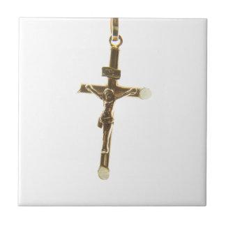 Azulejo Oro cruzado del Jesucristo horizontal