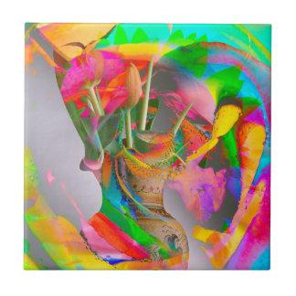 Azulejo ¡Parque de la flor de Digitaces - arte de las