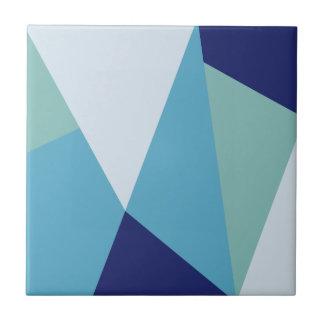 Azulejo Pastel geométrico elegante de los azules marinos y