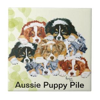 Azulejo Pastor australiano - pila del perrito