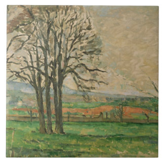 Azulejo Paul Cezanne - los árboles desnudos en Jas de