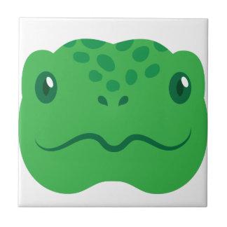 Azulejo pequeña cara linda de la tortuga de la tortuga