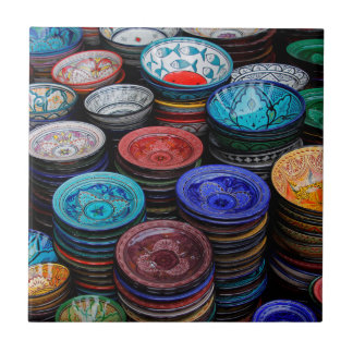 Azulejo Placas marroquíes en el mercado