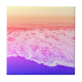 Azulejo Playa/arena/ondas del arco iris