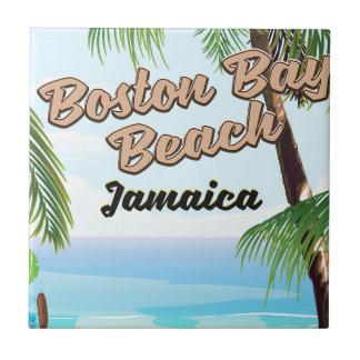 Azulejo Playa de la bahía de Boston, Jamaica