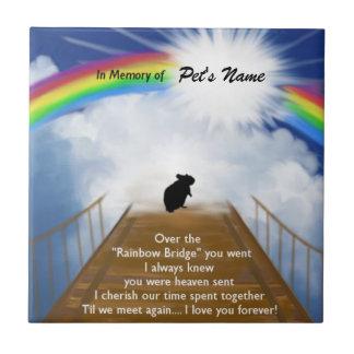 Azulejo Poema conmemorativo del puente del arco iris para