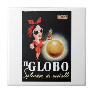 Azulejo Poster italiano 1949 de la publicidad de IL Globo