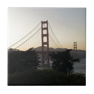 Azulejo Puente Golden Gate en la puesta del sol