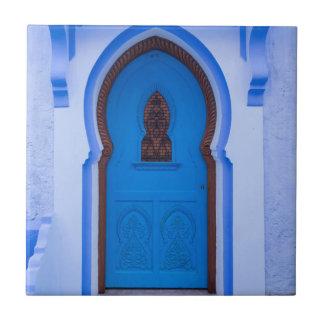 Azulejo Puerta marroquí azul