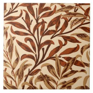 Azulejo Rama, Brown y beige del sauce de William Morris