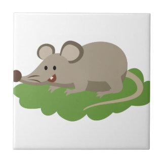 Azulejo rata linda del ratón