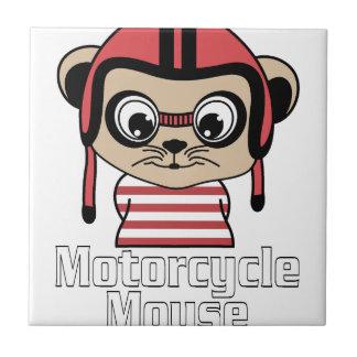 Azulejo Ratón de la motocicleta, diseño del vintage del