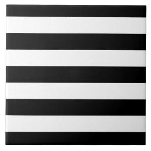 Azulejos a rayas blanco y negro for Azulejo a cuadros blanco y negro barato