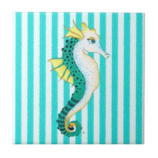 Azulejo rayas del trullo del seahorse