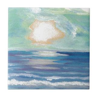 Azulejo Regalos de Sun de la resaca del mar del océano de