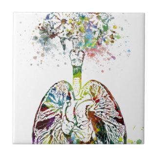 Azulejo Regalos médicos corazón y adorno de los pulmones