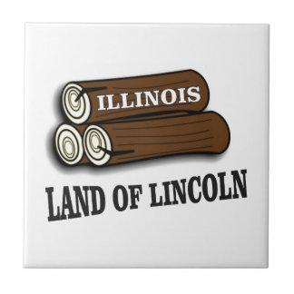 Azulejo Registros de Illinois de Lincoln