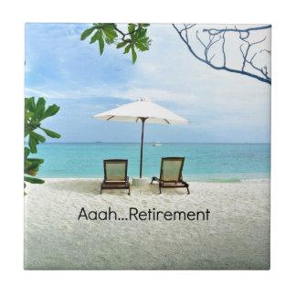 Azulejo Retiro de Aaah…, escena de relajación de la playa