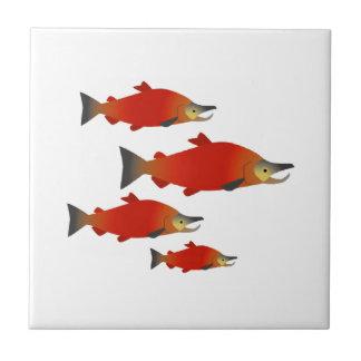 Azulejo Reunión de los salmones