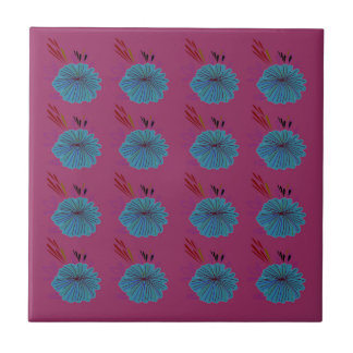 Azulejo Rosa azul de los elementos del diseño