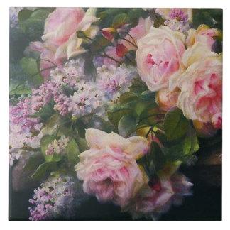 Azulejo Rosas y lilas del Victorian