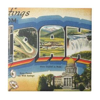 Azulejo Saludos de Idaho