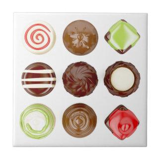 Azulejo Selección de caramelos de chocolate