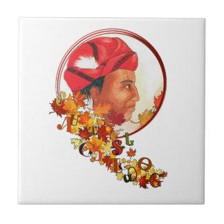"""Azulejo Sequoyah y el silabario cherokee """"que habla se va"""